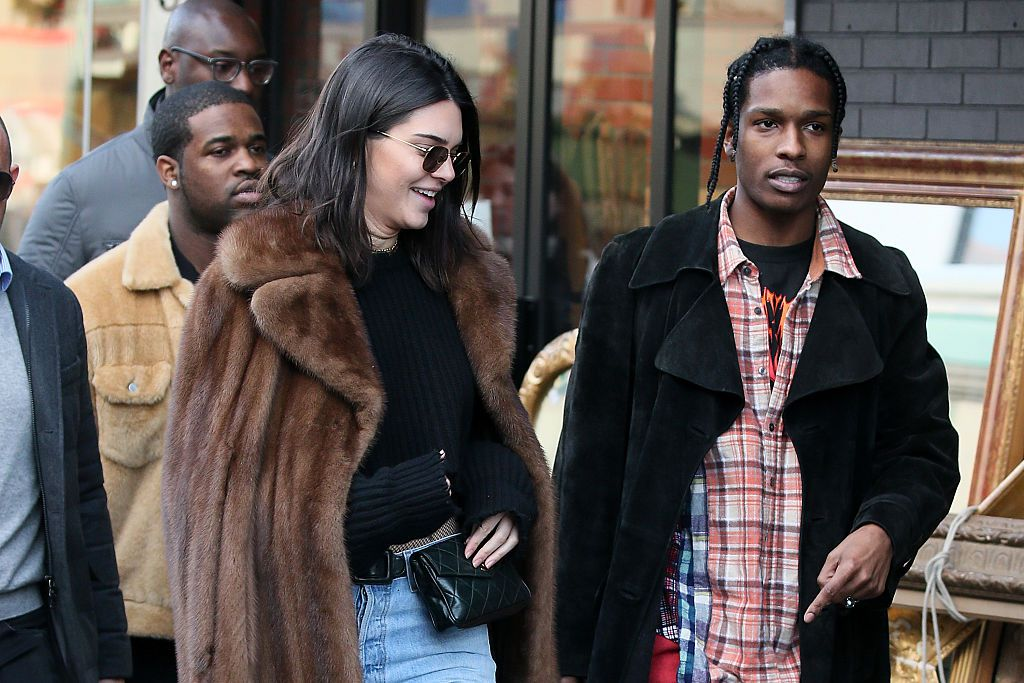 Kendall Jenner and ASAP Rocky spotted enjoying night out and 'there was a lot of touching going on'